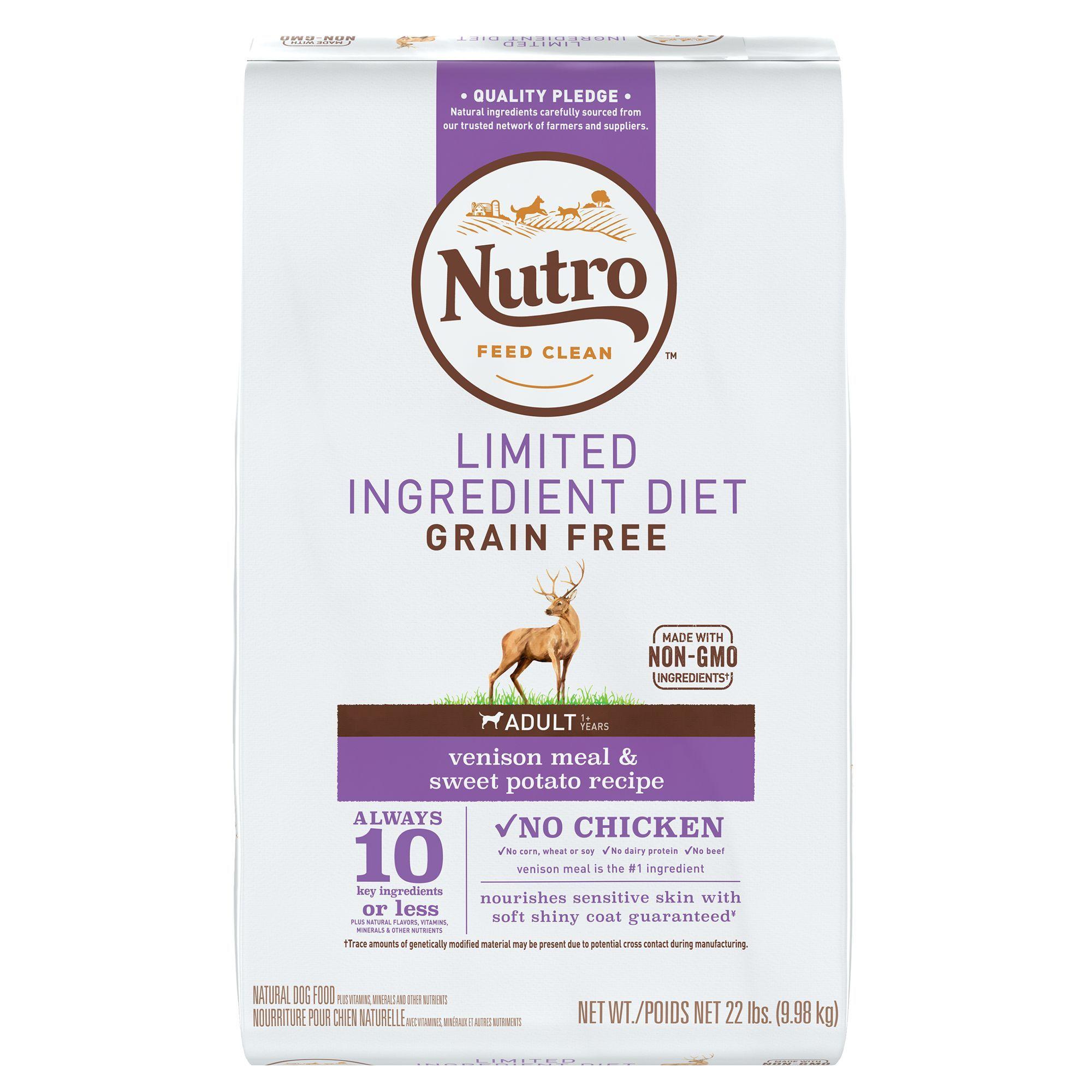 Nutro Limited Ingredient Diet Dog Food Natural Venison Meal