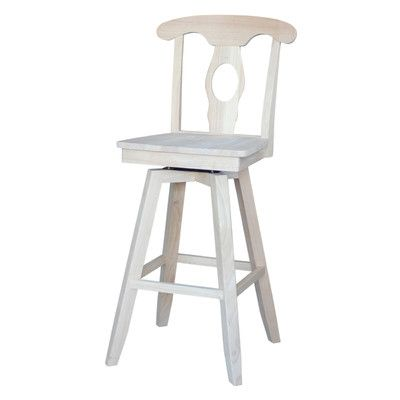 "International Concepts Empire 30"" Swivel Bar Stool"