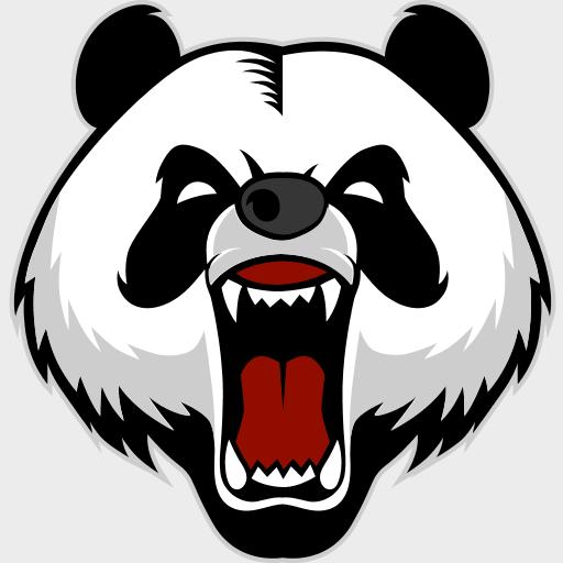 Agario Skins Panda Head Illustration Mascot