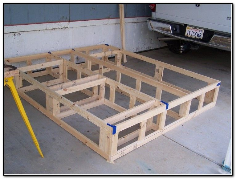 california king platform bed frame plans