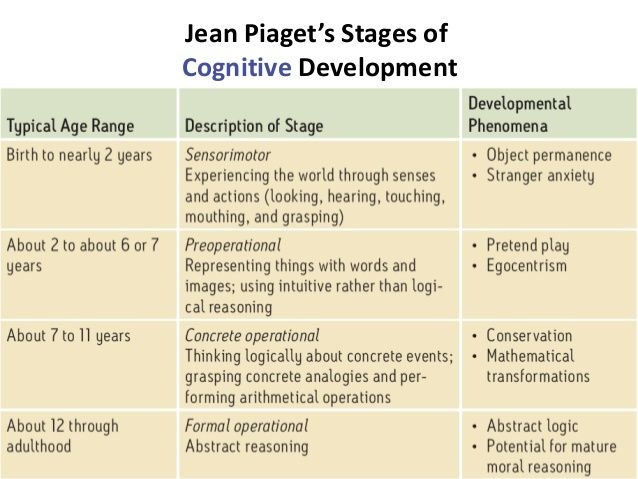 piagetu0027s eras and stages of physical-cognitive development - humint collector sample resume