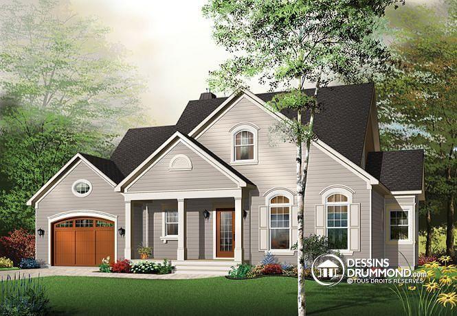 W2665 - Plan de maison à étage, 4 chambres dont les parents en bas