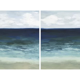 Coastal Wall Art You Ll Love In 2020 Wayfair In 2020 Diptych Wall Art Coastal Wall Art Ocean Painting