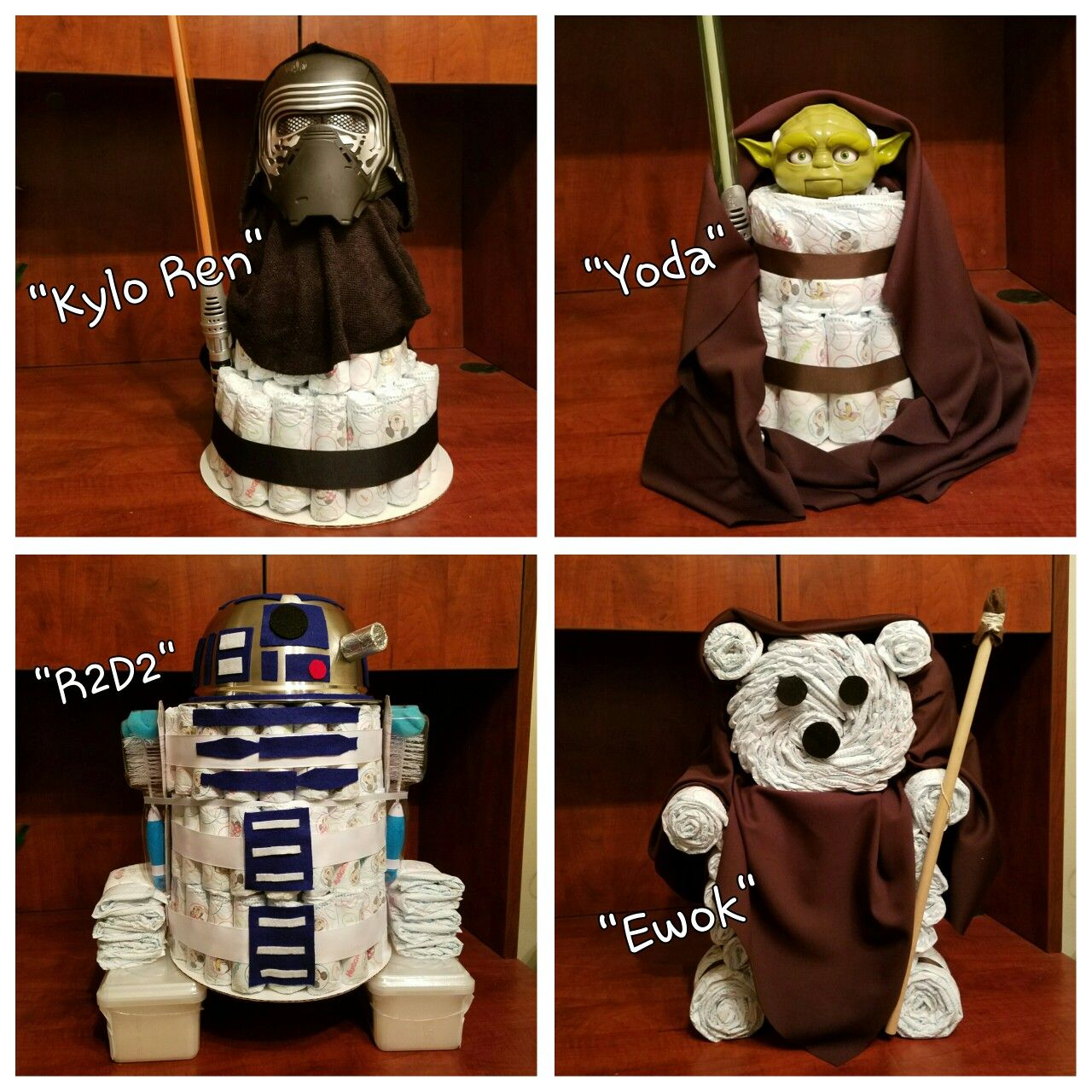 Star Themed Gifts Star Wars Theme Diaper Cakes Diaper Cake Creations By