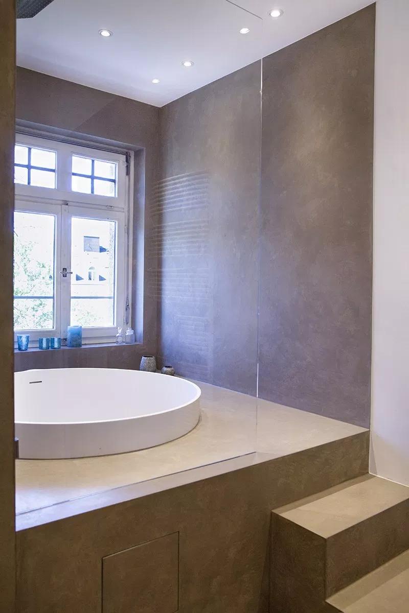 Kalkputz Wandputz Betonputz Mineralputz Wandgestaltung Naturlich Wande Wandfarbe Badezimmer Wandverkleidung Bad Fugenloses Bad Kleines Haus Badezimmer
