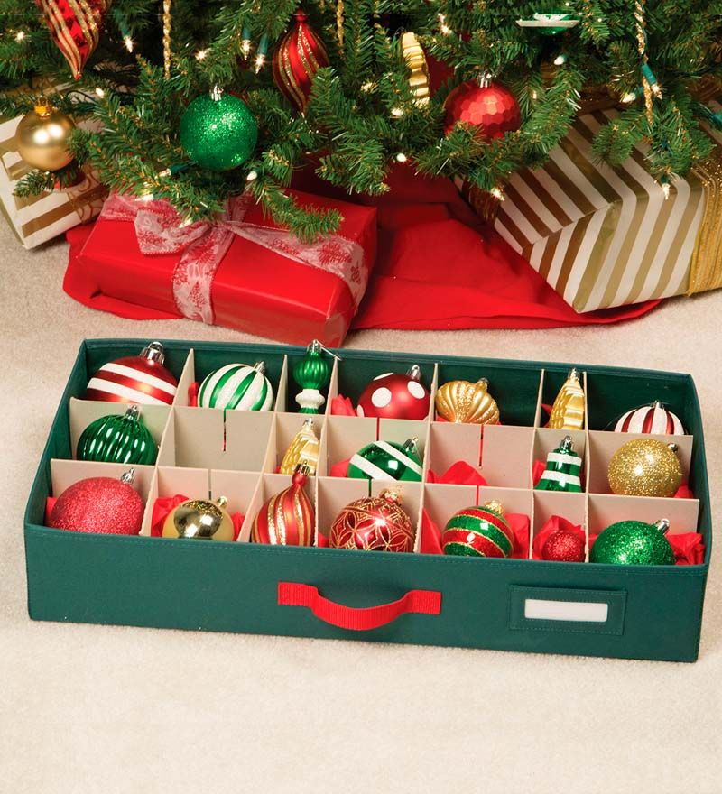 Christmas Ornament Storage Chest With Drawers Storage