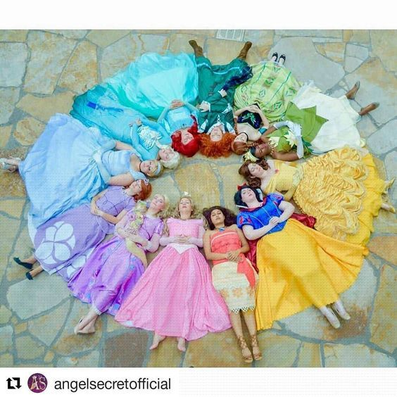 #Repost @angelsecretofficial (@get_repost) ・・・ #Repost @daniellesgalaxy Princess Color Wheel Watching us get into this circle to take the photo was probably hilarious...it's hard to get all those wigs and skirts just