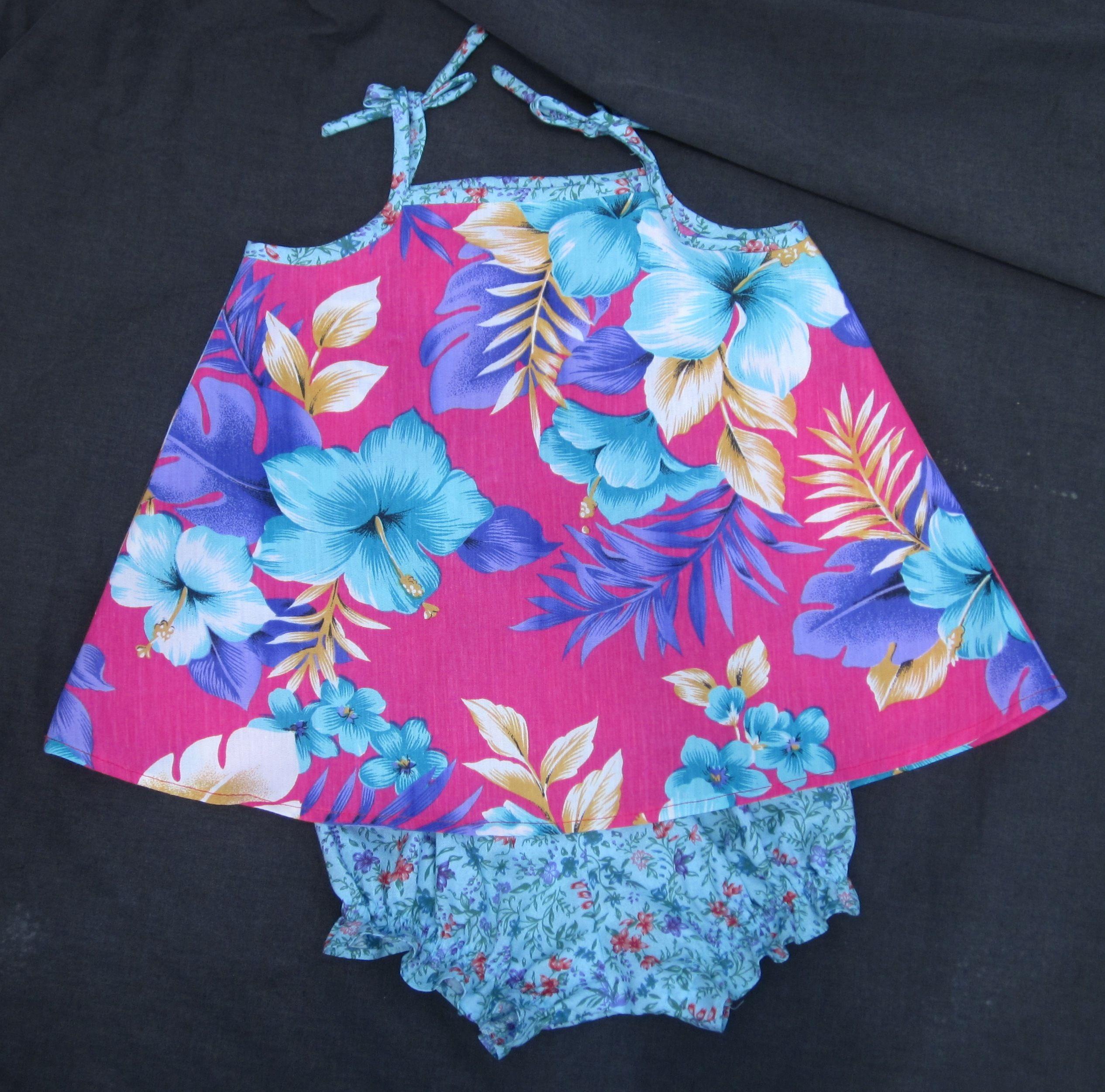 Little Girls Hawaiian Print Sundress Amp Panties