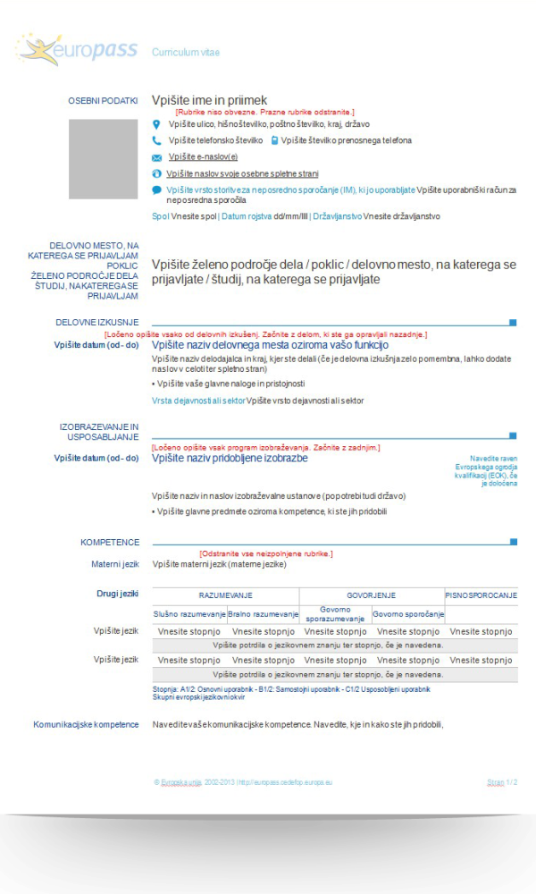 Curriculum Vitae V Slovenscini Modelo De Curriculum Vitae Curriculum Vitae Curriculum Outdoor Gardens Design