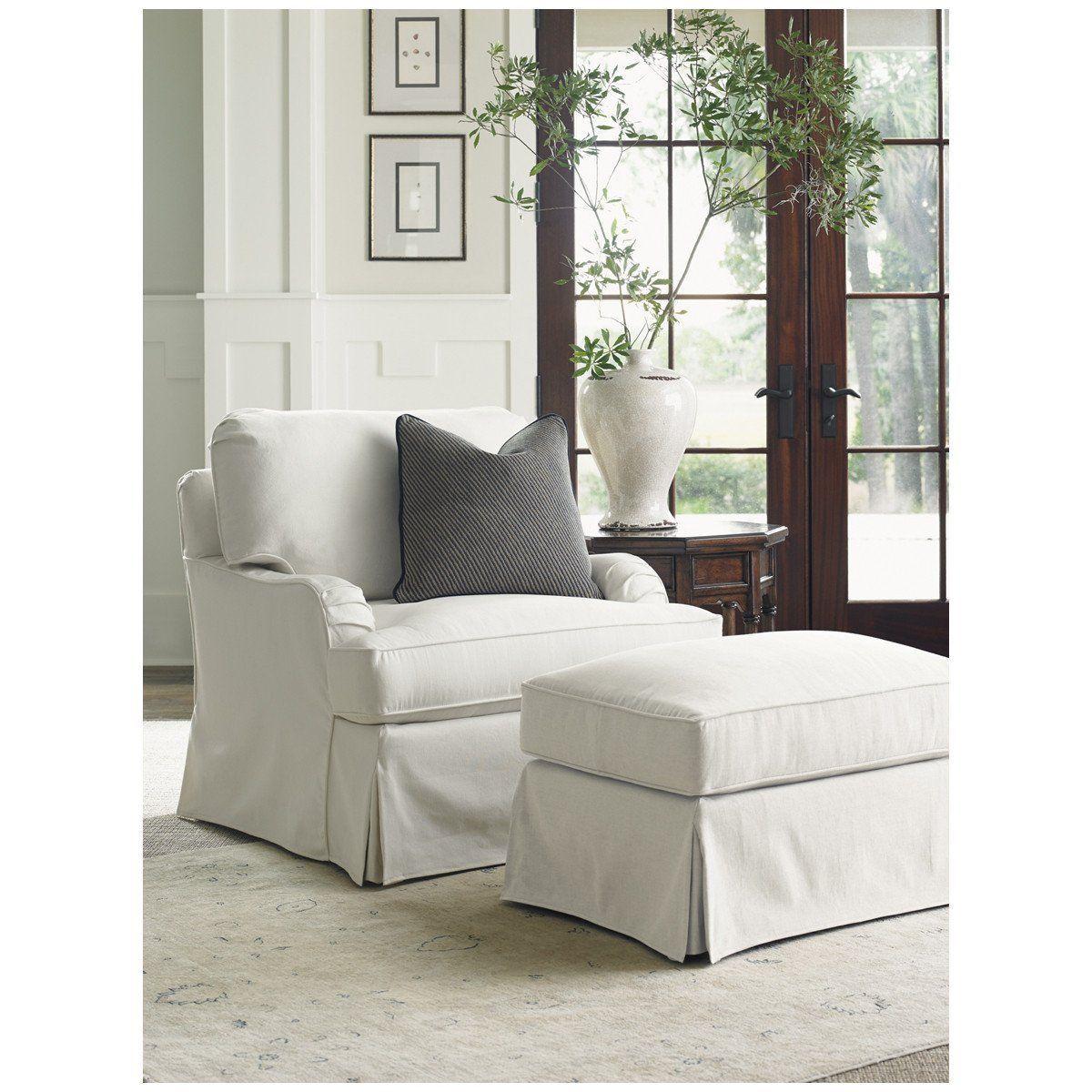 Lexington Coventry Hills Stowe Swivel Slipcover Chair