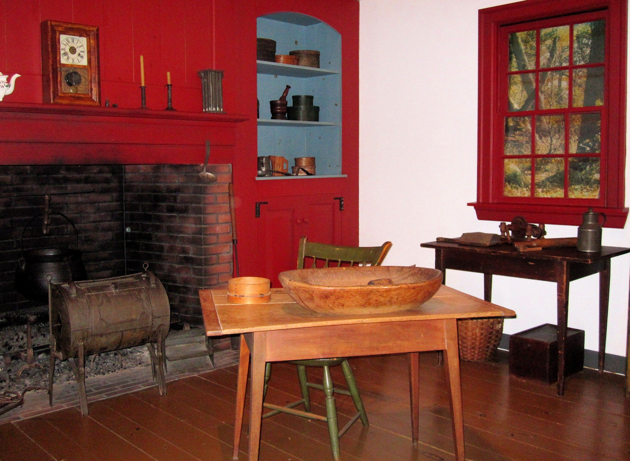 american colonial kitchens 1700's & 1800's   Early ...