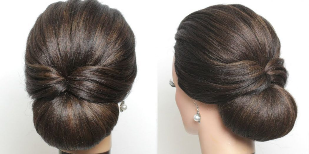 New Simple Bridal Hairstyle For Long Hair Easy Wedding Updo Video Long Hair Styles Bun Hairstyles For Long Hair Simple Bridal Hairstyle