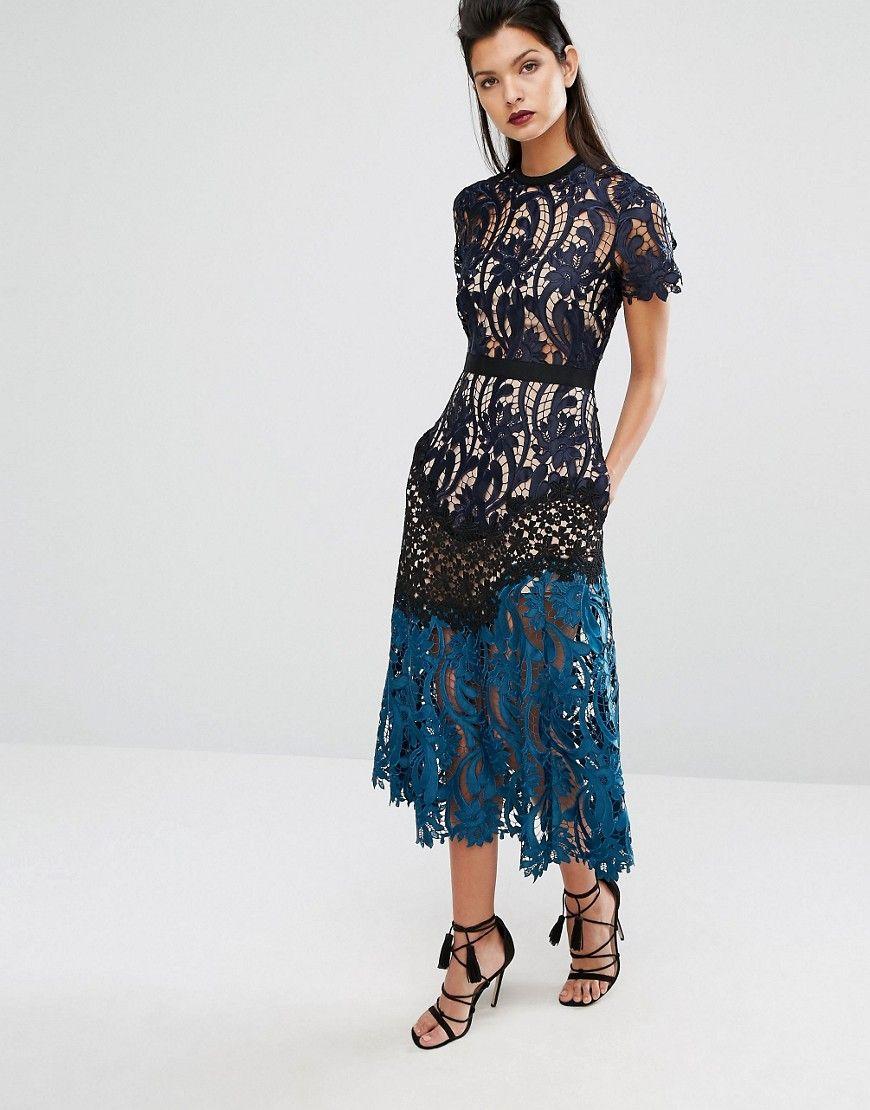 Image 1 of Self Portrait Prairie Midi Dress