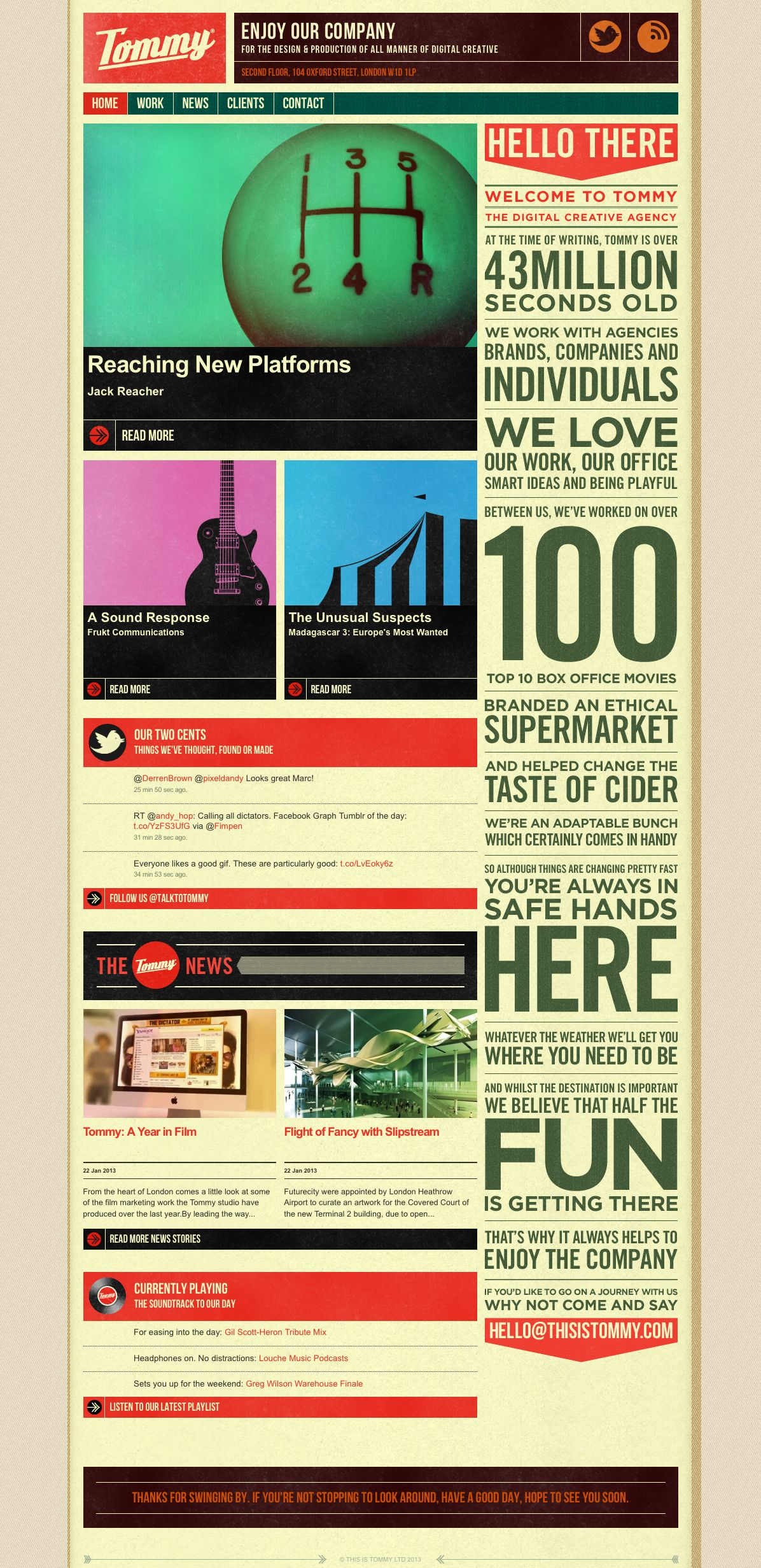 webdesign - http://www.thisistommy.com/