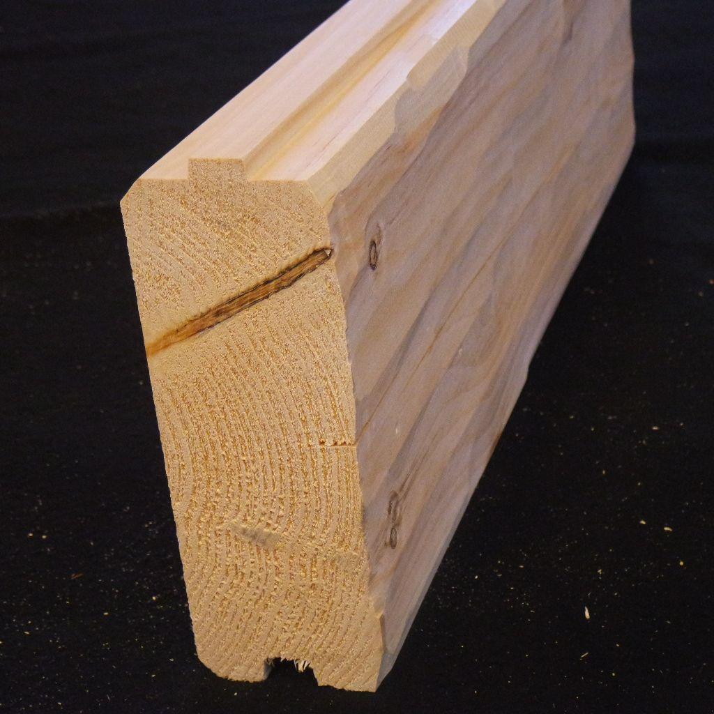 3x8 log siding hand hewn pine - 3x8 Log Siding Hand Hewn Pine 42