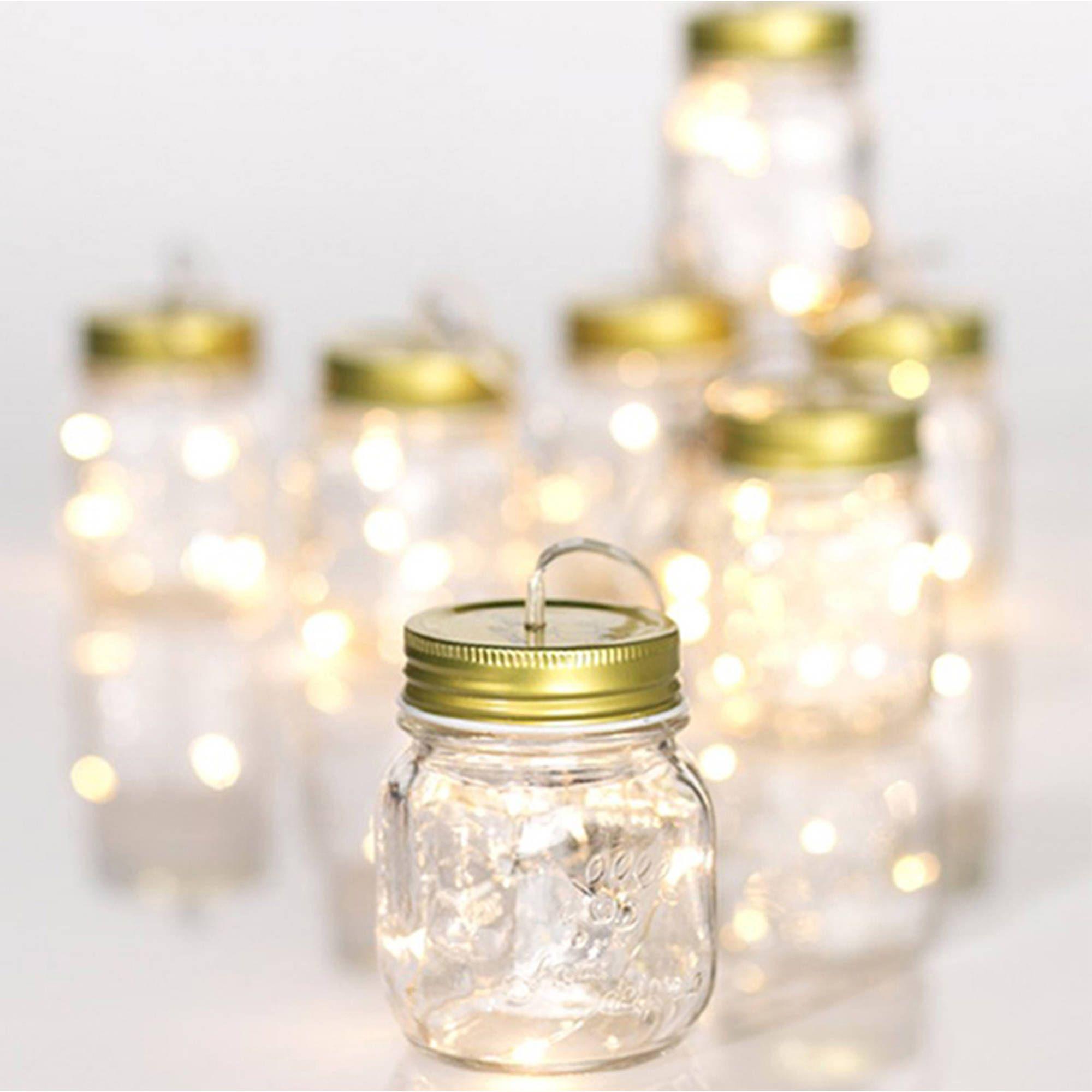 Home In 2020 Mason Jars Light Garland Mason Jar Lighting