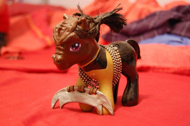 #38435 - custom, photo, safe, star trek, toy, worf - Derpibooru - My Little Pony: Friendship is Magic Imageboard