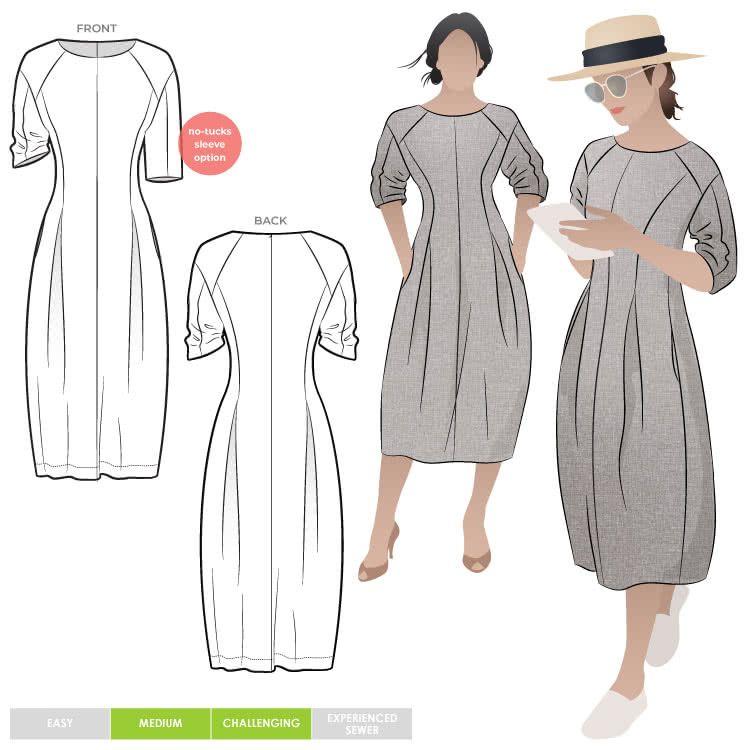 Gertrude Designer Dress Multi-Size PDF