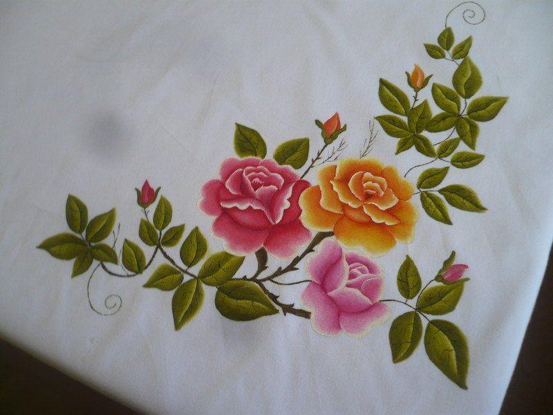Tablecloth Paintjpg 800600 Manteles Pintados En Tela