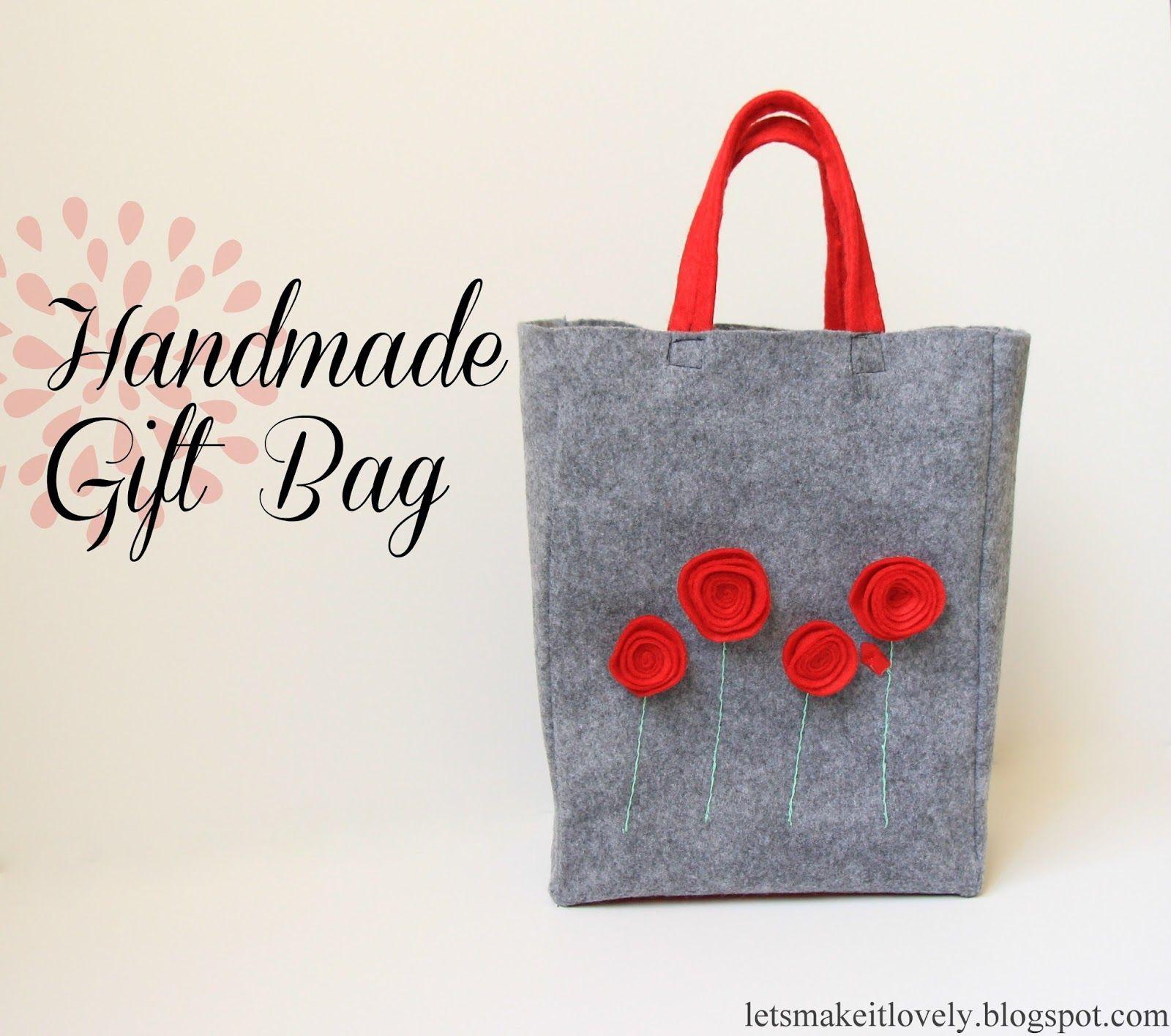 Felt Gift Bag Diy bags patterns, Felted handbags
