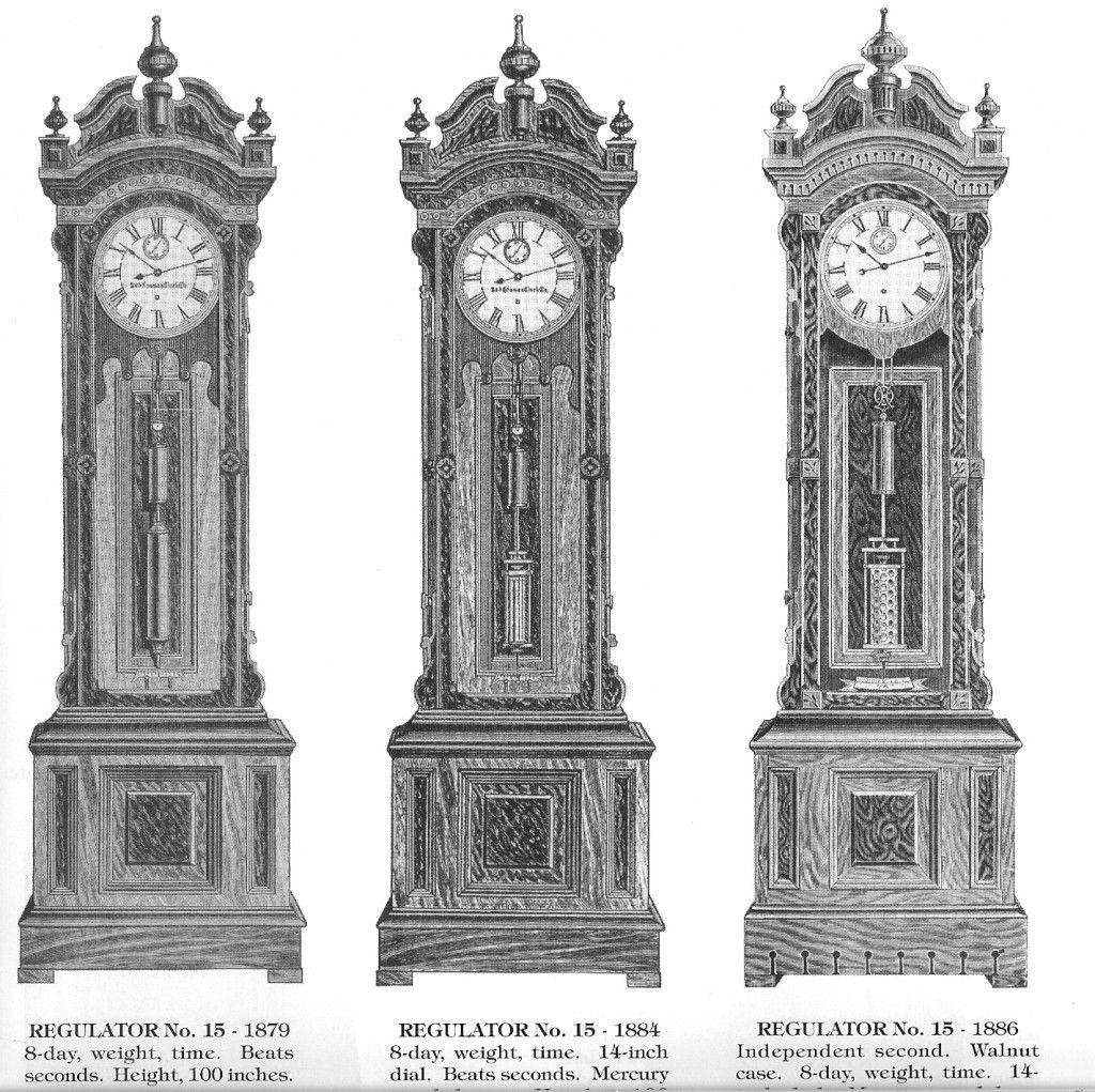 Early Seth Thomas Grandfather Clocks Regulators with Mercury