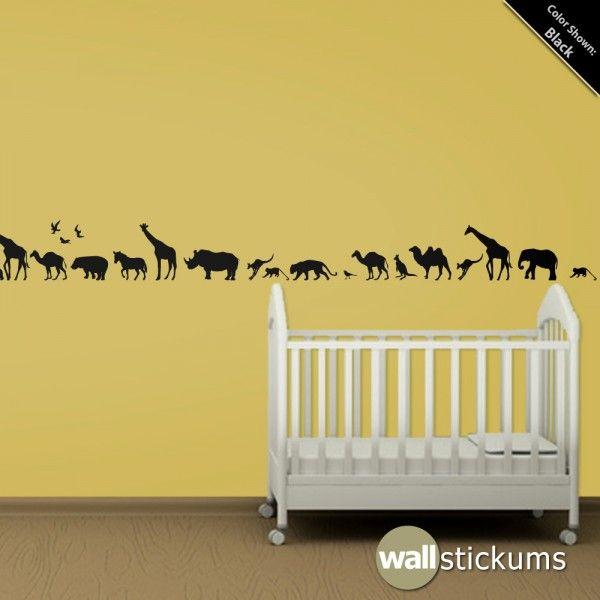 Safari Animals - All Wall Decals by WallStickums.com | Nursery ...