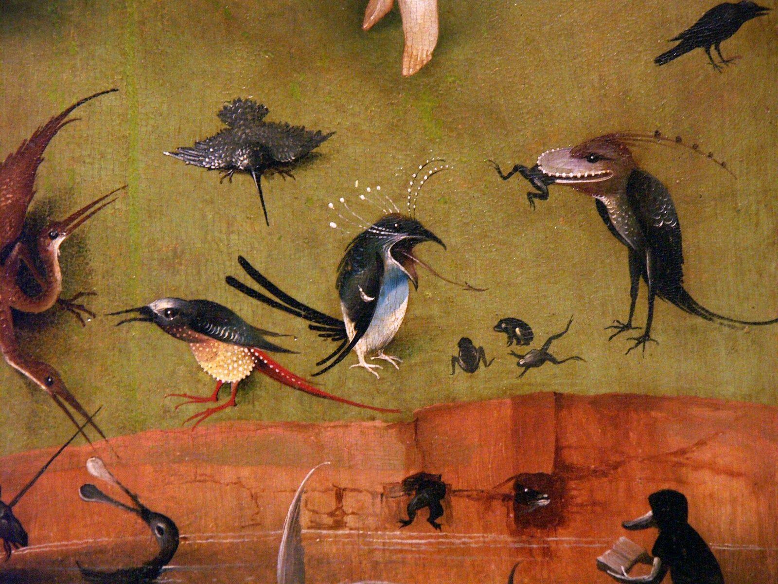 """Le Jardin des délices Jér´me Bosch détail du panneau """"Paradis"""