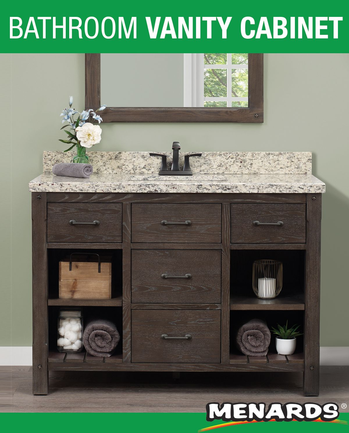 Foremost Roberson 48 W X 21 1 2 D Dark Oak Bathroom Vanity Cabinet Bathroom Vanity Vanity Vanity Cabinet