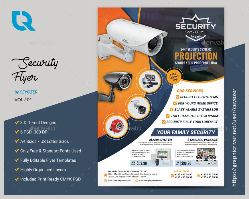 Security Systems Flyer | Flyers | Camera