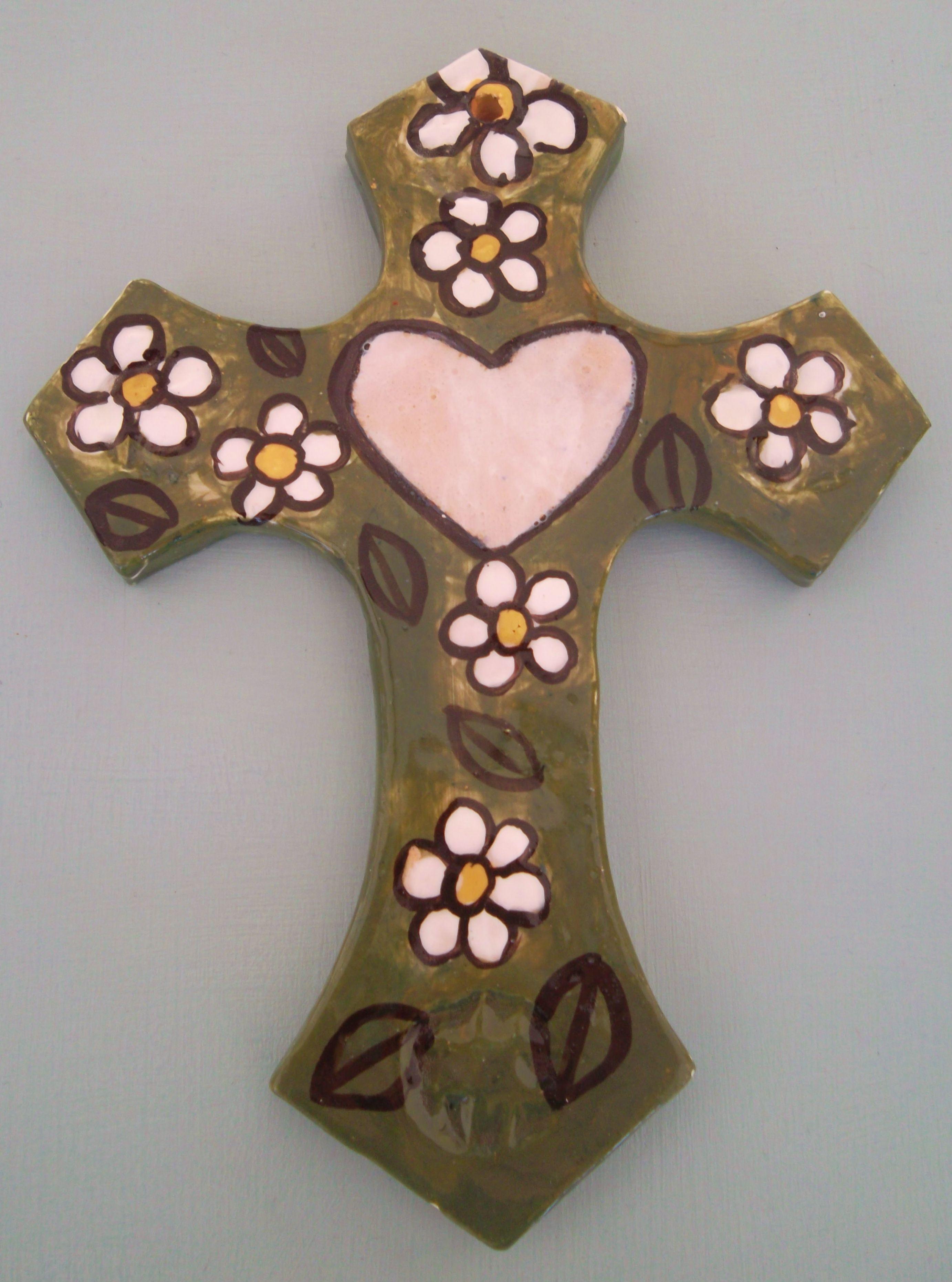 bf89fa60a82 Cruz de ceramica Cruces Pintadas