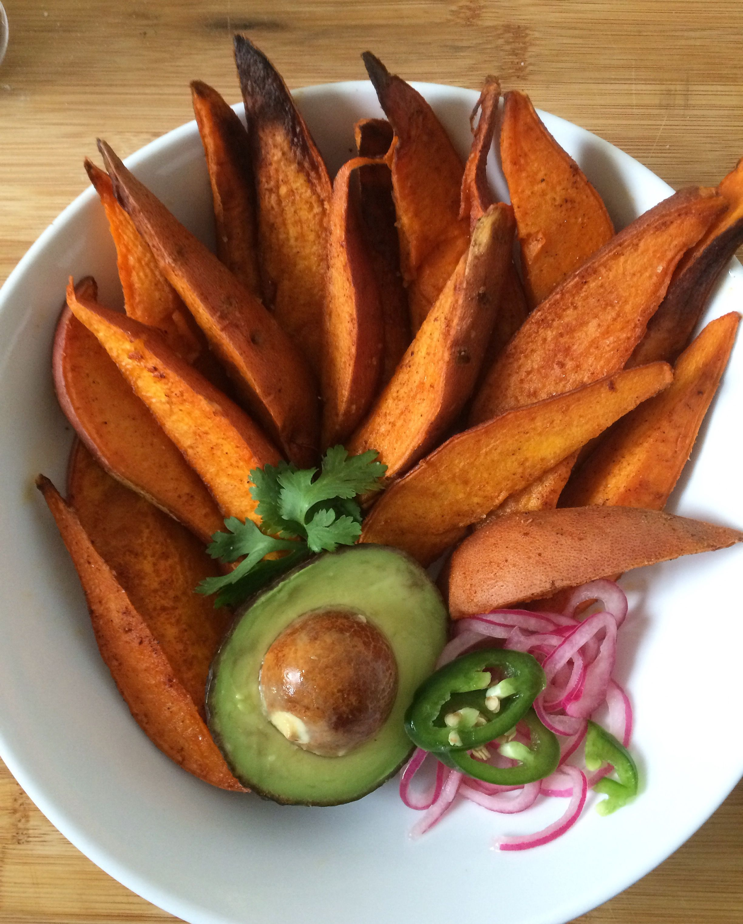 Oven Roasted Spicy Sweet Potato Wedges