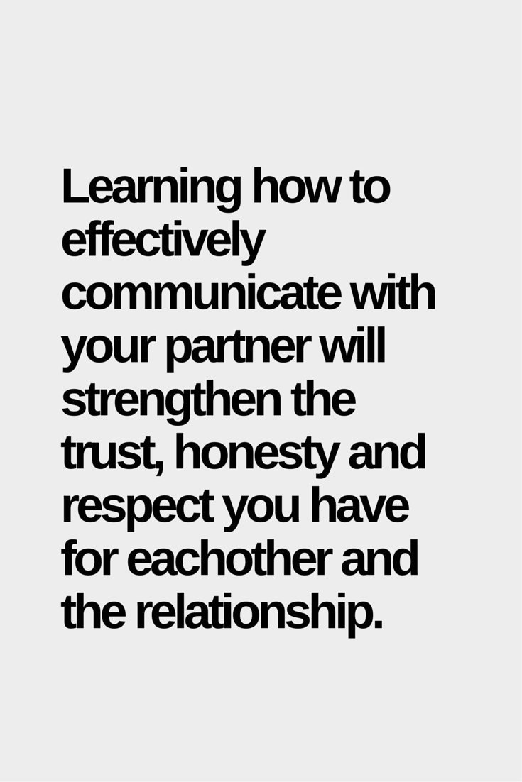 Learning How To Communicate With Your Partner