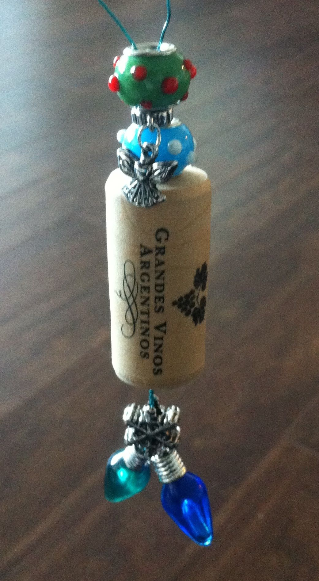 Ornaments made from wine corks - Original Post Made This Christmas Ornament With A Wine Cork From Their Wedding Something To