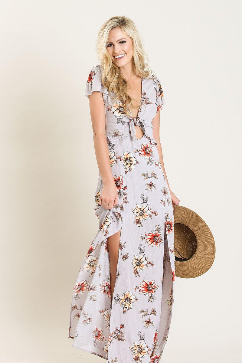 Kenley Lavender Floral Maxi Dress | Floral maxi dress, Floral maxi ...