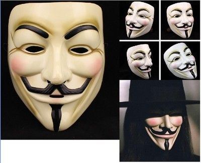 HOT Halloween Masquerade Face Mask V For Vendetta Guy Fawkes Fancy Dress Party - http://pandorasecretsonline.com/hot-halloween-masquerade-face-mask-v-for-vendetta-guy-fawkes-fancy-dress-party/