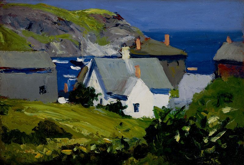 Edward hopper monhegan houses maine 1916 1919 oil on for Portland art museum maine
