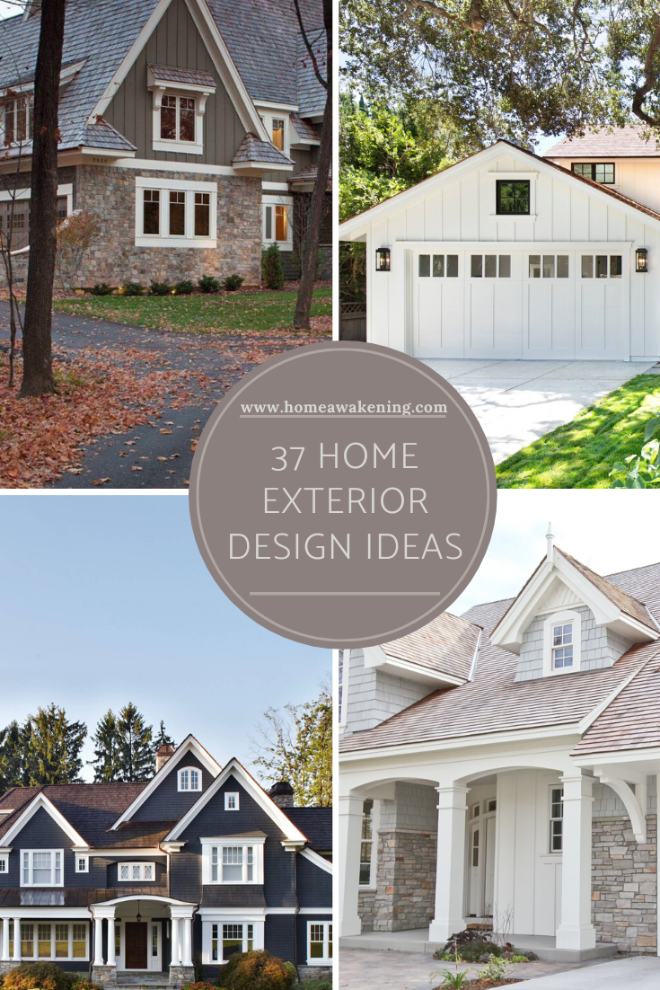 37 Home Exteriors That Work Home Awakening In 2020 House Exterior Home Porch Curb Appeal