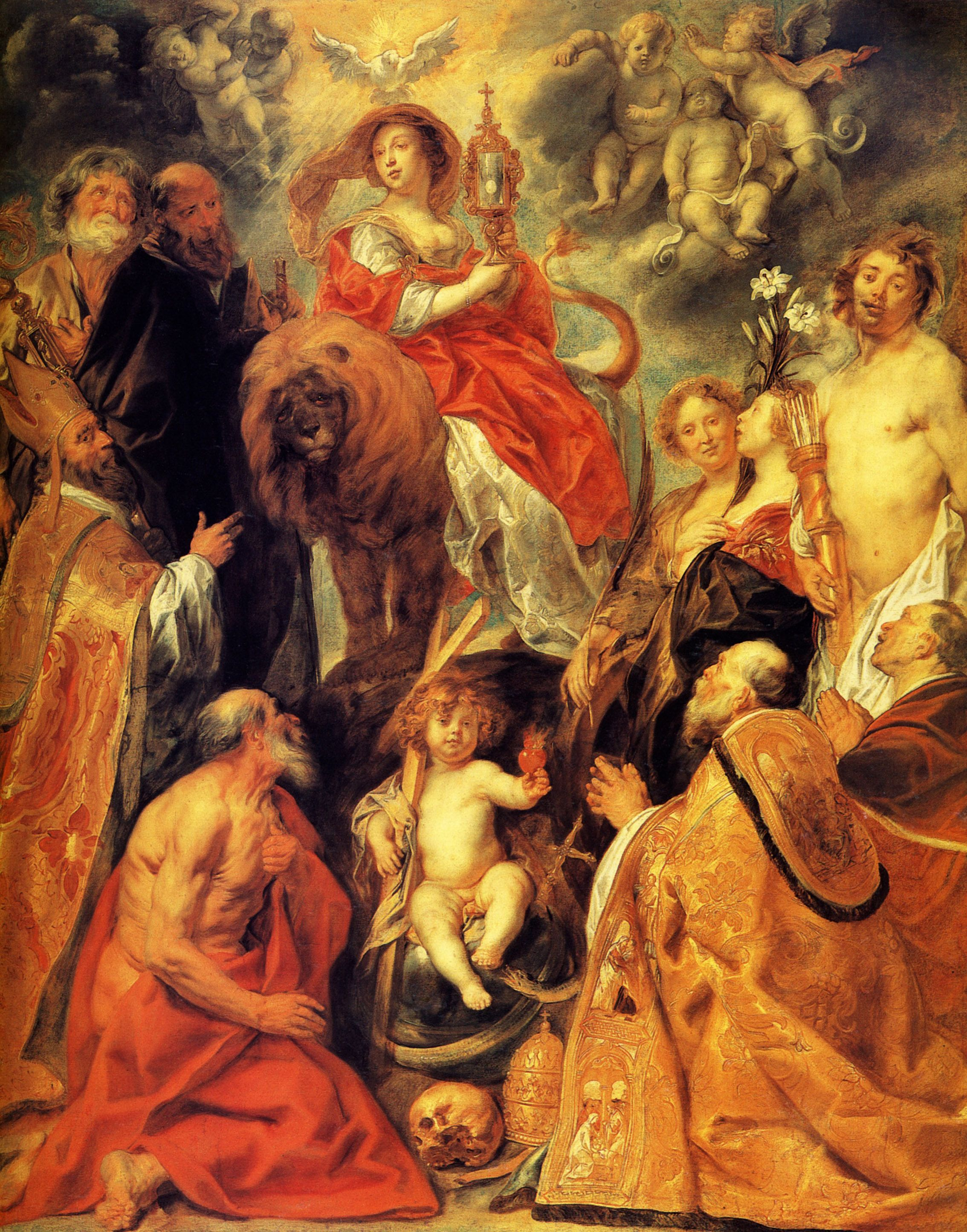 Arte Sacra Nigeria Limited The Veneration Of The Eucharist Jacob Jordaens Religious