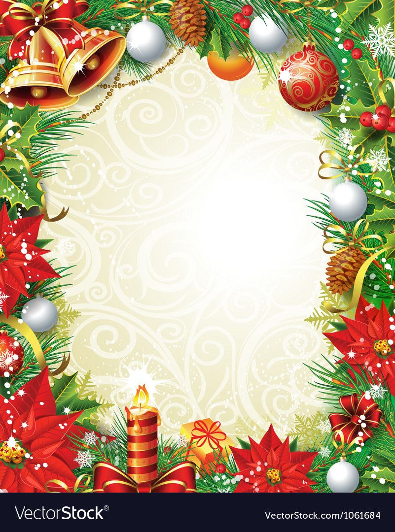 vintage christmas background vector image on vectorstock
