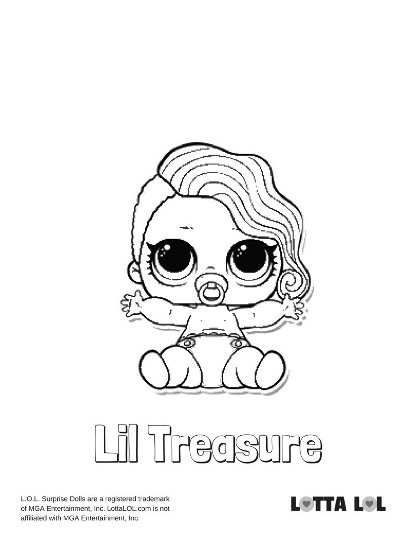 Lil Treasure Coloring Page