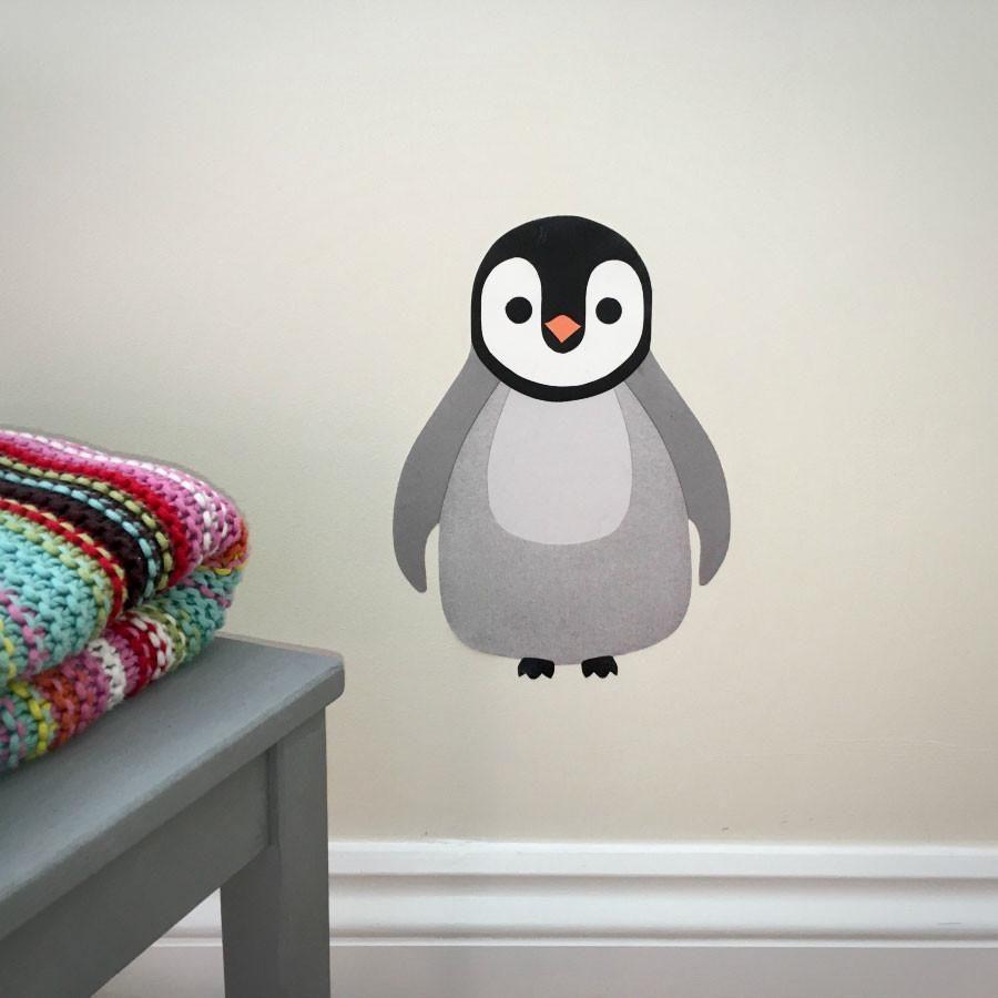Penguin Baby Penguin Polar Bird Children Kids Room DIY Wall Sticker Decal Vinyl Mural Decor Art L2187