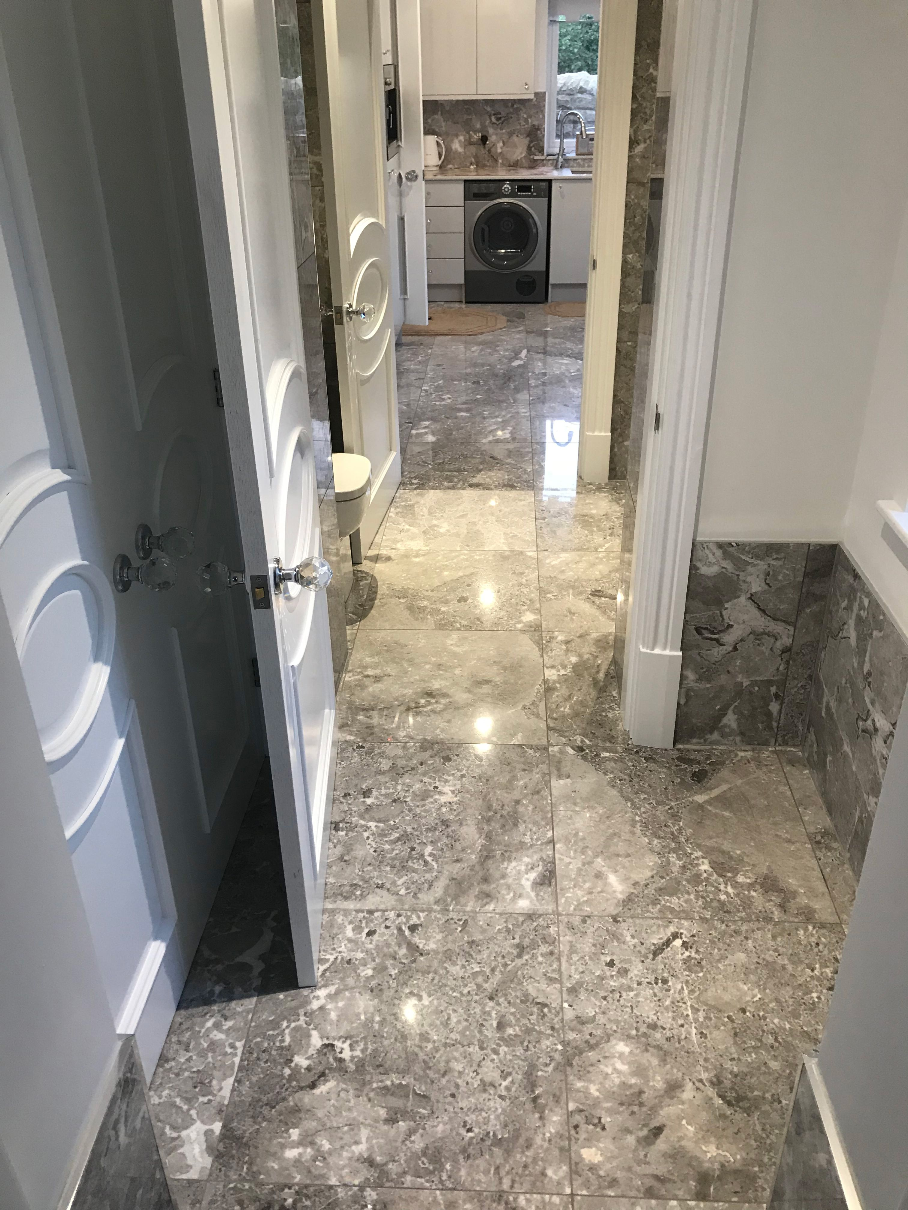 Pacific Grey Mottled Marble Floor Tiles Grey Marble Tile