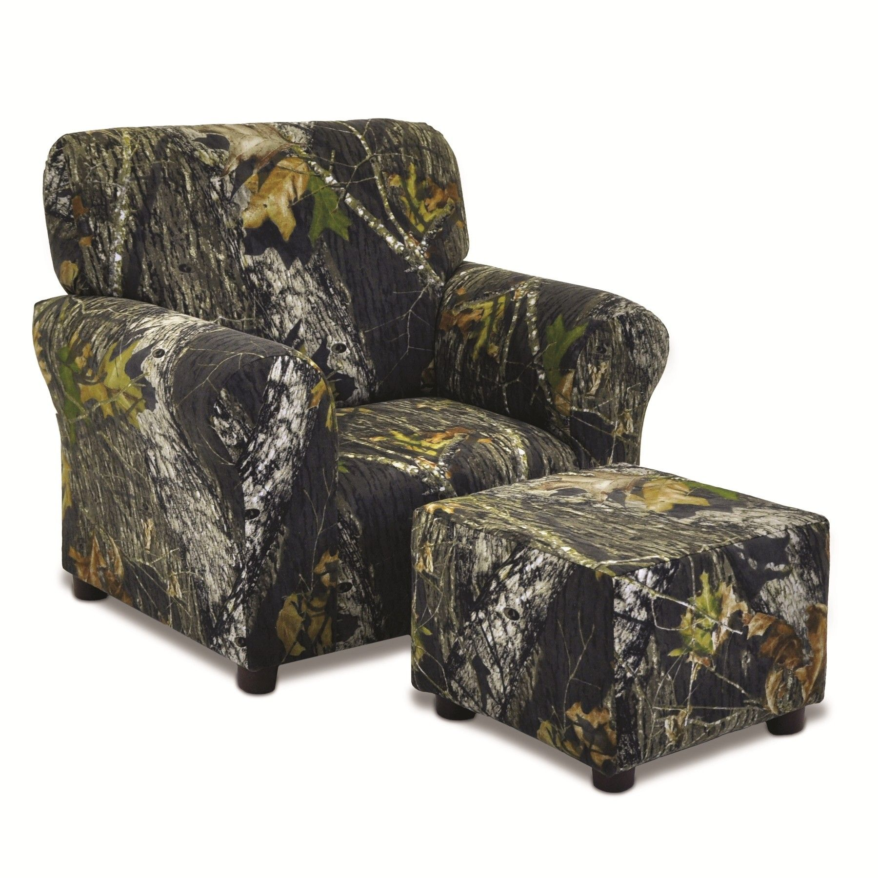 Mossy Oak Camouflage Club Chair And Ottoman Set Camo Furniture