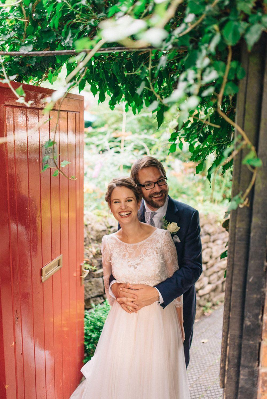 intimate secret garden wedding with vintage afternoon tea