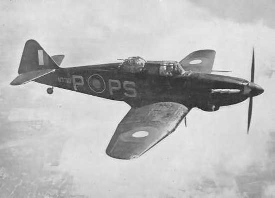 British Defiant. One of the rather stranger planes of WW2.