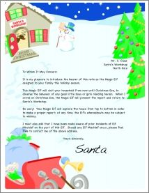 Elf on the shelf introduction letter, passport and Santa's report (free printables)