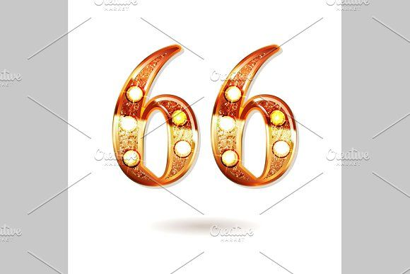 66 Years Anniversary By Aromeo On Creativemarket Signs And