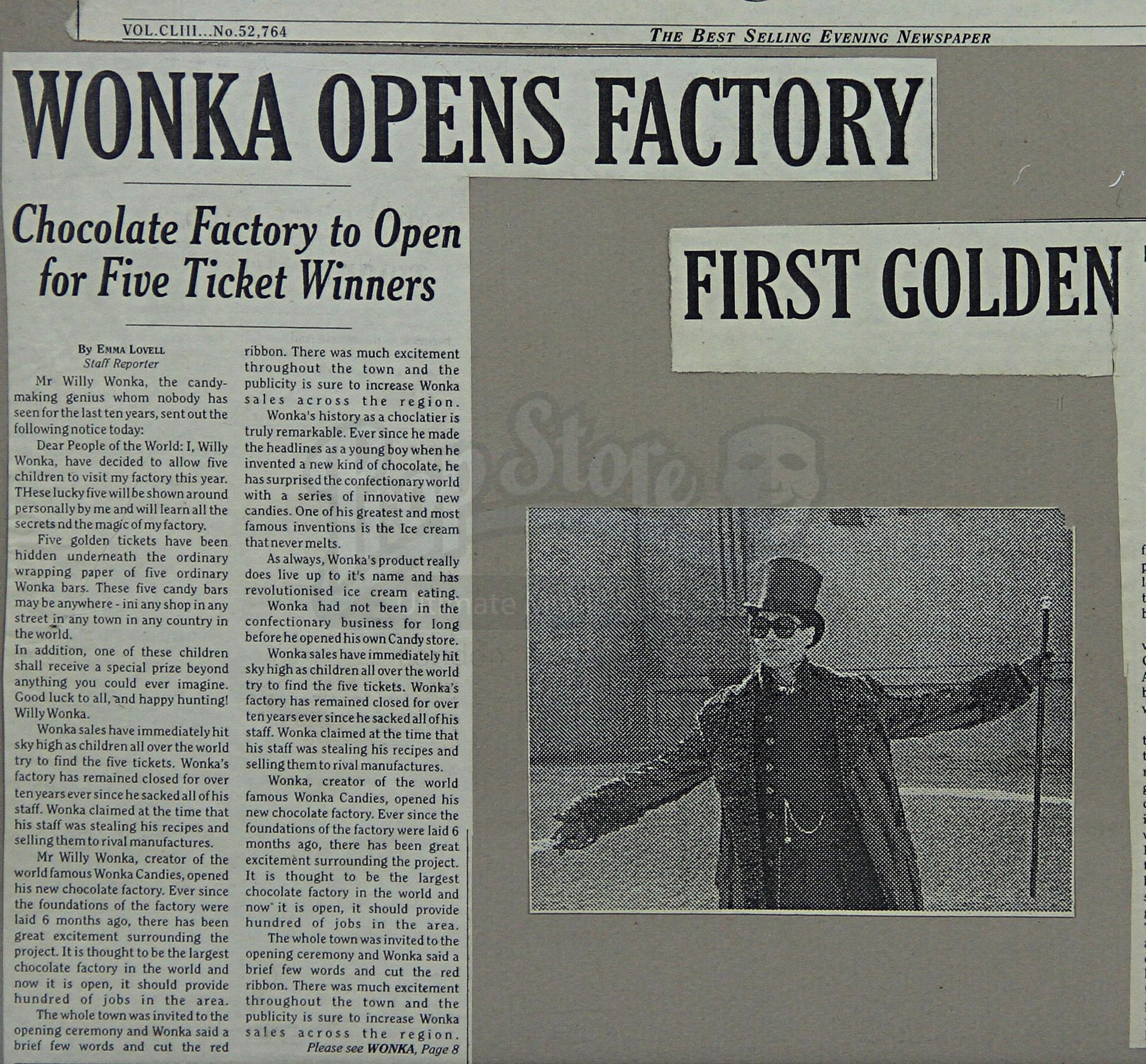 Willy Wonka Movie Newspaper Headlines From Movie  Google Search
