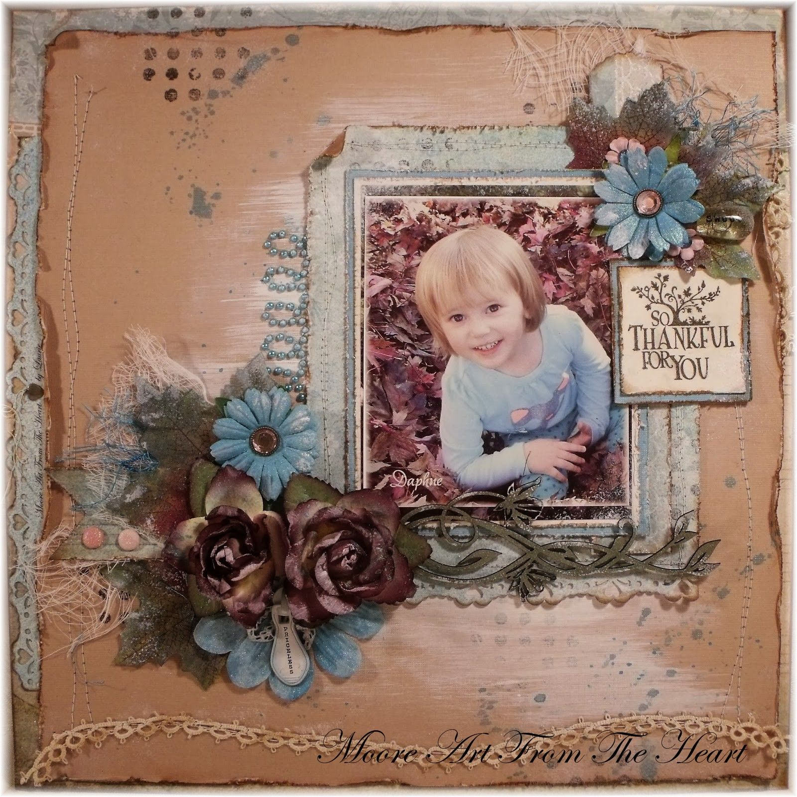 So Thankful For You Scrapbook page