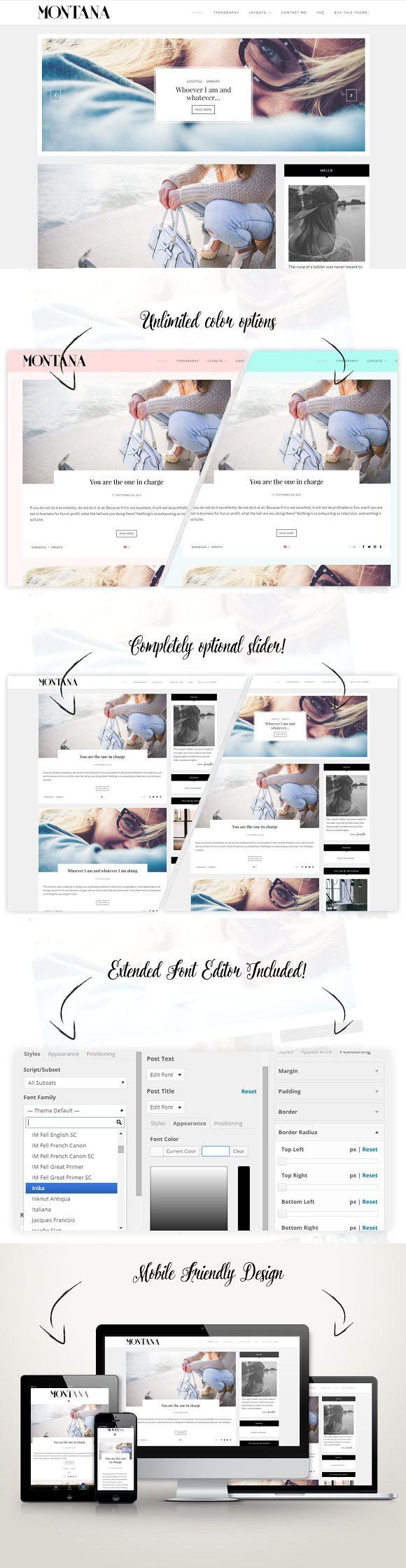 Clean Wordpress Blog - Montana. Tumblr Themes | Tumblr Themes ...